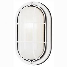 Westinghouse 6783500 - 1 Light Wall Fixture White Finish with White Glass Lens