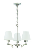 Jeremiah 1123-PLN - 3 Light Mini Chandelier in Polished Nickel