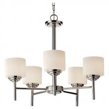 Feiss F2766/5PN - 5 - Light Single Tier Chandelier