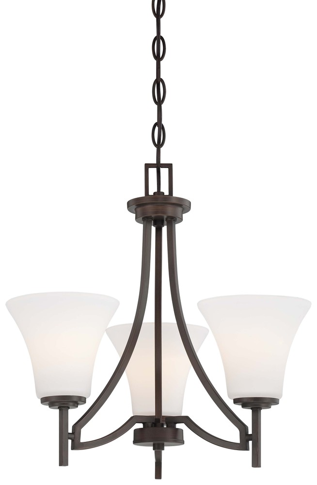 Manteca Lighting in Manteca, California, United States,  W0QH, 3 Light Mini Chandelier, Middlebrook