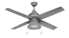 "Craftmade PAR52AGV4 - Port Arbor 52"" Ceiling Fan with Blades and Light in Aged Galvanized"