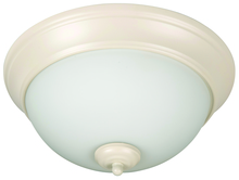 "Craftmade XP11AW-2W - Pro Builder 2 Light 11"" Flushmount in Antique White"