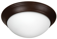 "Craftmade XPP15AG-3W - Pro Builder Premium 3 Light 15"" Flushmount in Aged Bronze Textured"