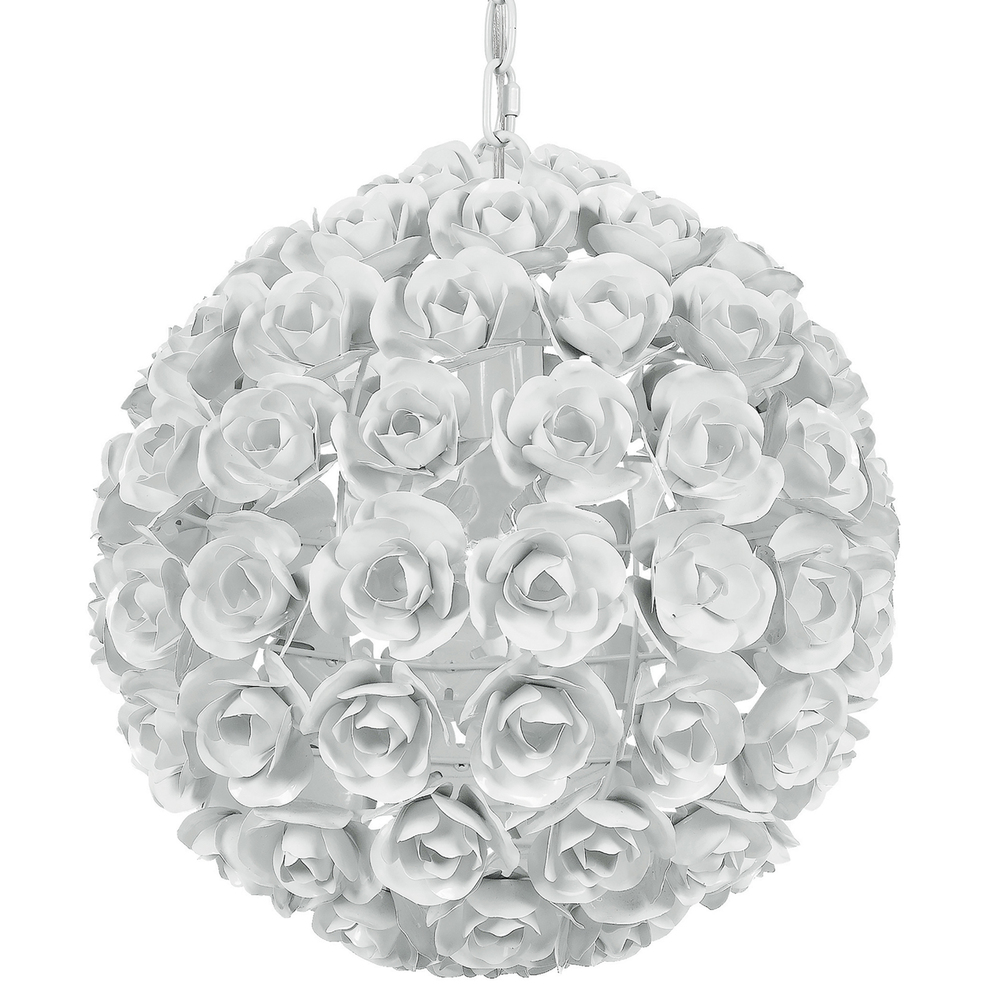 Crystorama Cypress 1 Light White Sphere Mini Chandelier