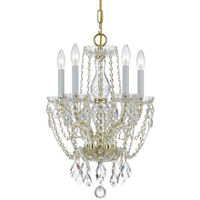 Crystorama 1129-PB-CL-MWP - Crystorama Traditional Crystal 5 Light Clear Crystal Brass Mini Chandelier I
