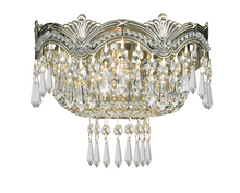 Crystorama 1480-HB-CL-MWP - Crystorama Majestic 2 Light Clear Crystal Brass Sconce I