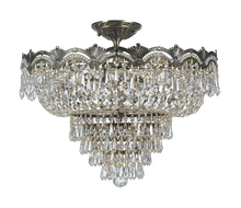 Crystorama 1485-HB-CL-MWP - Crystorama Majestic 5 Light Hand Cut Crystal Semi-Flush