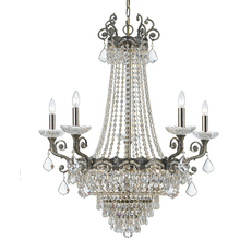 Crystorama 1486-HB-CL-MWP - Crystorama Majestic 13 Light Clear Crystal Brass Chandelier