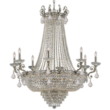 Crystorama 1488-HB-CL-MWP - Crystorama Majestic 20 Light Clear Crystal Brass Chandelier