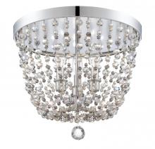 Crystorama 1540-CH-MWP - Crystorama Channing 3 Light Chrome Flush Mount