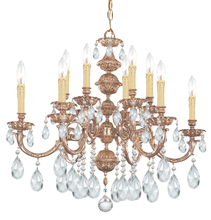 Crystorama 2512-OB-CL-MWP - Crystorama Oxford 12 Light Clear Crystal Chandelier