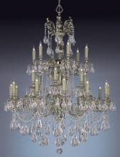 Crystorama 2724-OB-CL-SAQ - Crystorama Novella 24 Light Clear Spectra Crystal Chandelier