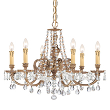 Crystorama 2806-OB-CL-MWP - Crystorama Novella 6 Light Clear Crystal Chandelier I