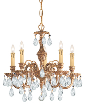 Crystorama 2905-OB-CL-MWP - Crystorama Novella 5 Light Clear Crystal Brass Mini Chandelier II