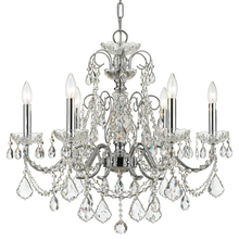 Crystorama 3226-CH-CL-MWP - Imperial 6 Light Crystal Chrome Chandelier