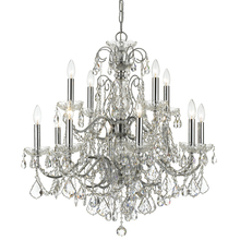 Crystorama 3228-CH-CL-MWP - Crystorama Imperial 12 Light Crystal Chrome Chandelier