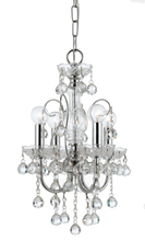 Crystorama 3324-CH-CL-MWP - Crystorama Imperial 4 Light Clear Crystal Chrome Mini Chandelier II