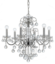 Crystorama 3326-CH-CL-MWP - Crystorama Imperial 6 Light Crystal Chrome Chandelier II