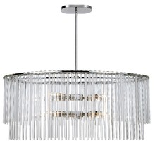 Crystorama 398-CH - Bleecker 8 Light Polished Chrome Chandelier