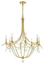 Crystorama 418-GA-CL-MWP - Metro 8 Light Crystal Antique Gold Chandelier