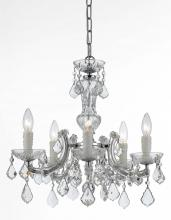 Crystorama 4376-CH-CL-MWP - Crystorama Maria Theresa 5 Light Chrome Mini-Chandelier
