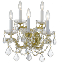 Crystorama 4404-GD-CL-MWP - Crystorama Maria Theresa 5 Light Clear Crystal Gold Sconce II