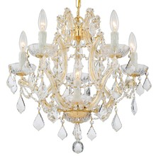 Crystorama 4405-GD-CL-MWP - Crystorama Maria Theresa 6 Light Clear Crystal Gold Mini Chandelier