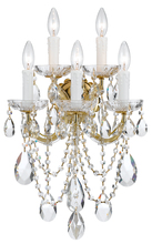 Crystorama 4425-GD-CL-MWP - Crystorama Maria Theresa 5 Light Clear Crystal Gold Sconce I