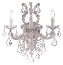 Crystorama 4433-CH-CL-MWP - Crystorama Maria Theresa 3 Light Clear Crystal Chrome Sconce III