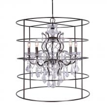 Crystorama 4450-VZ-CL-SAQ - Crystorama Filmore Vibrant Bronze Spectra Crystal 5 Light Chandelier