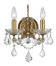 Crystorama 4452-GA-CL-MWP - Crystorama Filmore 2 Light Clear Crystal Gold Sconce