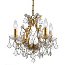 Crystorama 4454-GA-CL-MWP - Crystorama Filmore 4 Light Crystal Gold Mini-Chandelier
