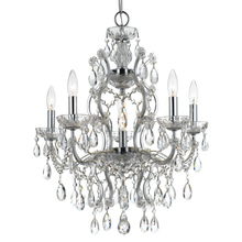 Crystorama 4455-CH-CL-MWP - Crystorama Filmore 6 Light Crystal Chrome Chandelier I