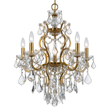 Crystorama 4455-GA-CL-MWP - Crystorama Filmore 6 Light Crystal Gold Chandelier I