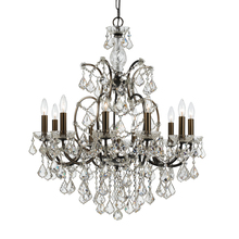 Crystorama 4458-VZ-CL-MWP - Crystorama Filmore 10 Light Clear Crystal Bronze Chandelier
