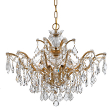 Crystorama 4459-GA-CL-MWP - Crystorama Filmore 6 Light Crystal Gold Chandelier II