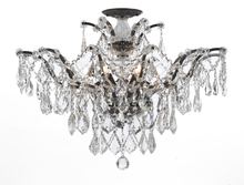 Crystorama 4459-VZ-CL-MWP_CEILING - Crystorama Filmore 6 Light Clear Hand Cut Bronze Semi-Flush