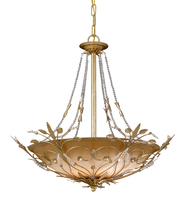 Crystorama 4700-GL - Crystorama Primrose 6 Light Faceted Crystal Beads Gold Chandelier