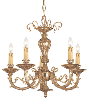 Crystorama 485-OB - Crystorama Etta 5 Light Olde Brass Mini Chandelier