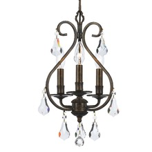 Crystorama 5013-EB-CL-MWP - Crystorama Ashton 3 Light Hand Cut Crystal Bronze Mini Chandelier