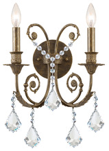 Crystorama 5112-EB-CL-MWP - Crystorama Regis 2 Light Clear Crystal Bronze Sconce