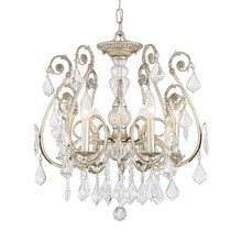 Crystorama 5115-OS-CL-MWP - Crystorama Regis 6 Light Clear Hand Cut Crystal Semi-Flush II