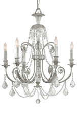 Crystorama 5116-OS-CL-I - Crystorama Regis 6 Light Clear Italian Crystal Silver Chandelier I
