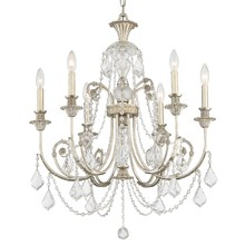 Crystorama 5116-OS-SS-MWP - Crystorama Regis 6 Light Clear Crystal Silver Chandelier