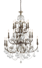 Crystorama 5117-EB-CL-MWP - Crystorama Regis 18 Light Clear Crystal Bronze Chandelier
