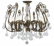 Crystorama 5118-EB-CL-SAQ - Crystorama Regis 8 Light Clear Swarovski Spectra Crystal Semi-Flush