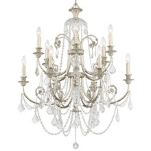 Crystorama 5119-OS-CL-MWP - Crystorama Regis 12 Light Clear Crystal Silver Chandelier II