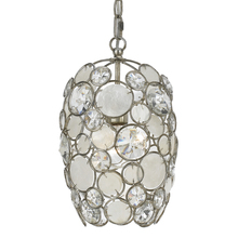 Crystorama 523-SA - Crystorama Palla 1 Light Antique Silver Mini Chandelier