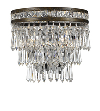 Crystorama 5261-EB-CL-MWP - Crystorama Mercer 2 Light Hand Cut Crystal Bronze Sconce