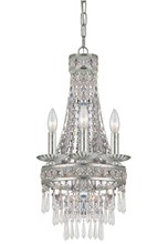 Crystorama 5263-OS-CL-MWP - Crystorama Mercer 4 Light Olde Silver Mini Chandelier